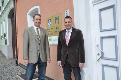 Bürgermeister Bernd Hofmann und Uwe Engels