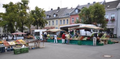 Wochenmarkt in Hof