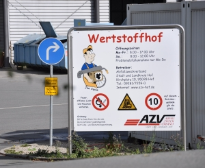 Wertstoffhof Silberberg in Hof